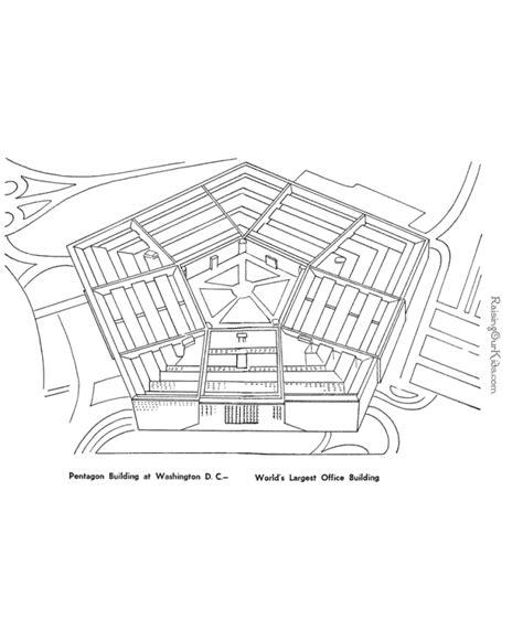 pentagon building coloring page 024