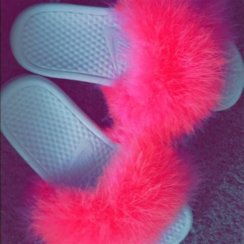 Fluffy Flat Rante 10 nike shoes doll fluffy pink nike slides from