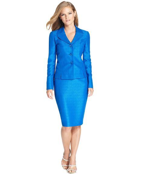 le suit new blue shantung business 3 button s size