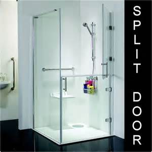Disabled Shower Doors Access Disabled Shower 1000 X 1000 Room Tray Split Door Enclosure
