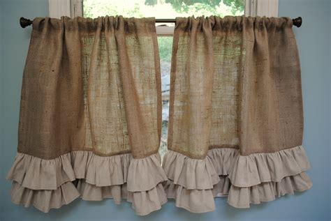 pinterest burlap curtains country kitchen curtains ideas for the home inspiring