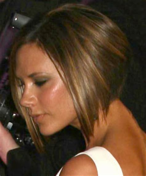 t section highlights for dark hair victoria beckham with short hair