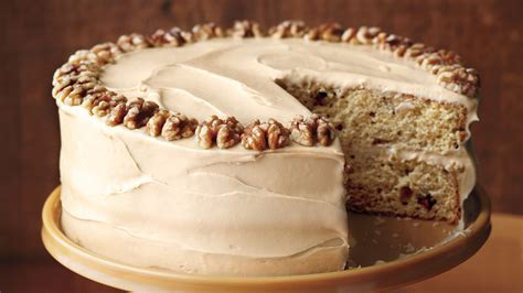 Thanksgiving Dinner Table Maple Walnut Cake With Brown Sugar Frosting
