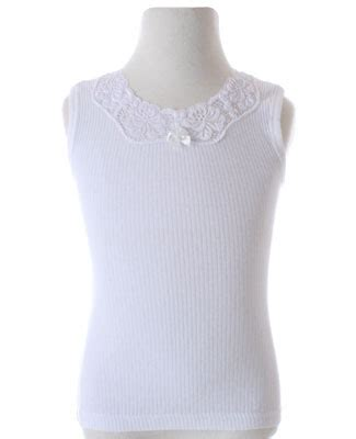Camisole Forget Me Not Desiree r creation stummer ribbed white camisole with lace