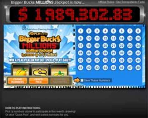 Publishers Clearing House Winning Numbers - pch lotto games power prize bigger bucks millions rolling jackpot