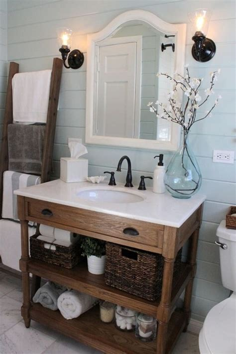 rustic wood bathroom shelves 34 rustic bathroom vanities and cabinets for a cozy touch digsdigs
