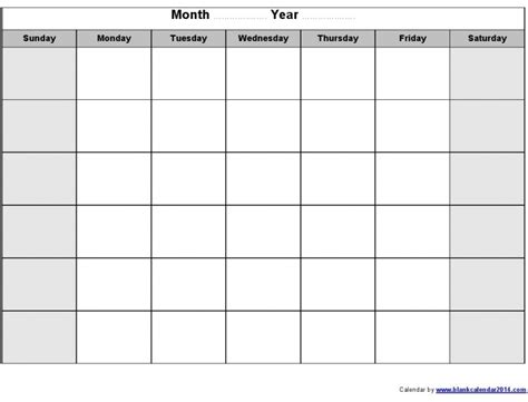 sunday through saturday calendar template printable sunday through saturday calendar free