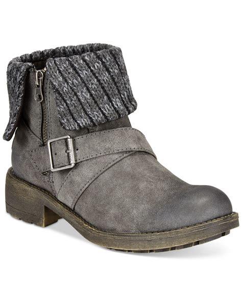 foldover sweater boots lyst rocket tobie foldover sweater booties in black