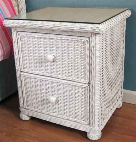 Wicker Nightstand wicker 2 drawer nightstand elana