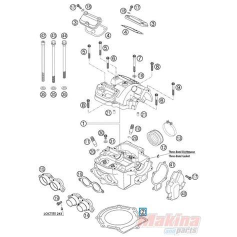Ktm 525 Exc Parts 59030036000 Cylinder Gasket Ktm Exc 520 525 Sx 450