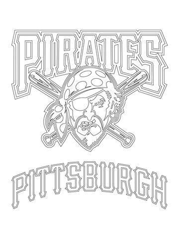 pittsburgh pirates logo coloring page supercoloring com