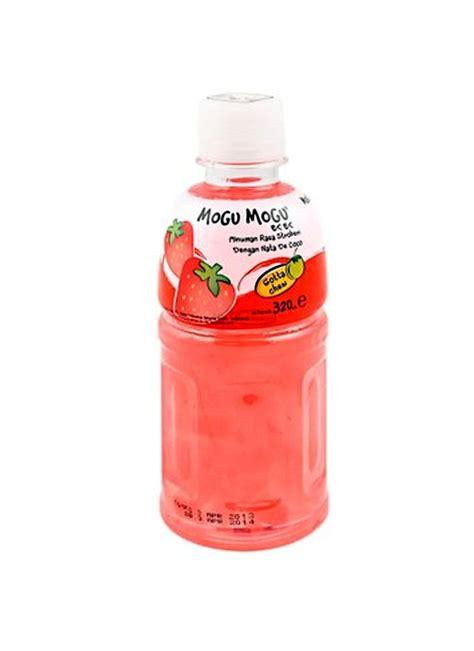 Mogu Mogu Strawberry 320ml mogu mogu minuman nata de coco strawberry btl 320ml