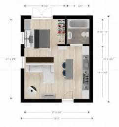 20ftx24ft cabin or studio apartment layout compact