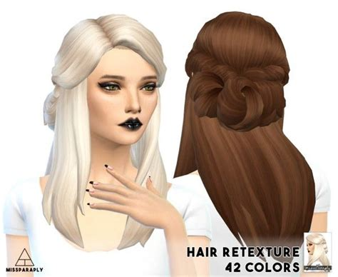 sims 4 cc hair retextures 60 best images about sims 4 cc hair on pinterest