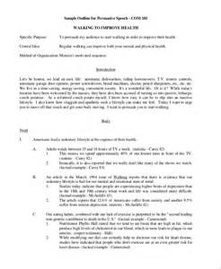 Argumentative Briefformat Sle Speech Outline Exle 7 Documents In Pdf Word
