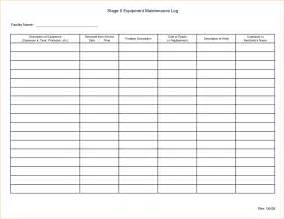 Equipment Log Book Template by Equipment Maintenance Log Template Bestsellerbookdb