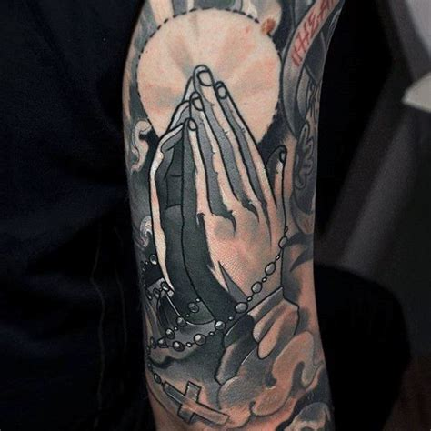 praying hands and rosary beads tattoo design 17 best ideas about rosary on arm on