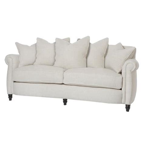 feather couch cortona classic rolled arm feather down oatmeal condo sofa