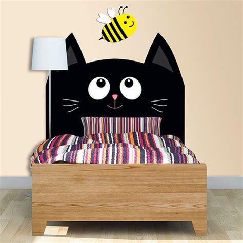 gatto a letto testiera gatto adesivi murali wall stickers