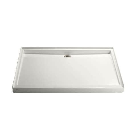 kohler shower base kohler groove 60 in x 42 in acrylic single threshold