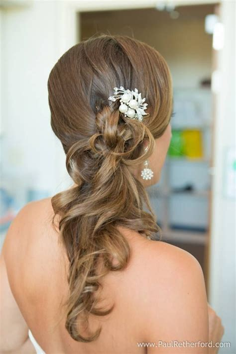 bridal hairstyles ponytail wedding hair side ponytail wedding hairstyles pinterest