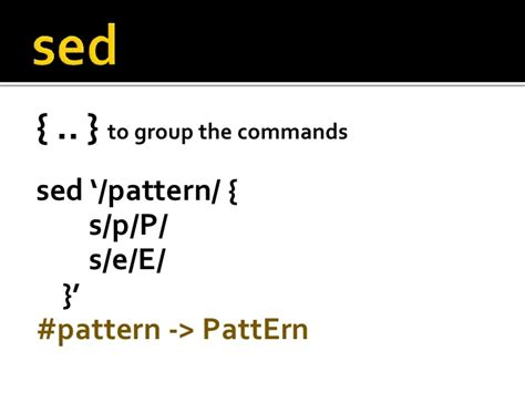 pattern matching sed practical unix utilities for text processing