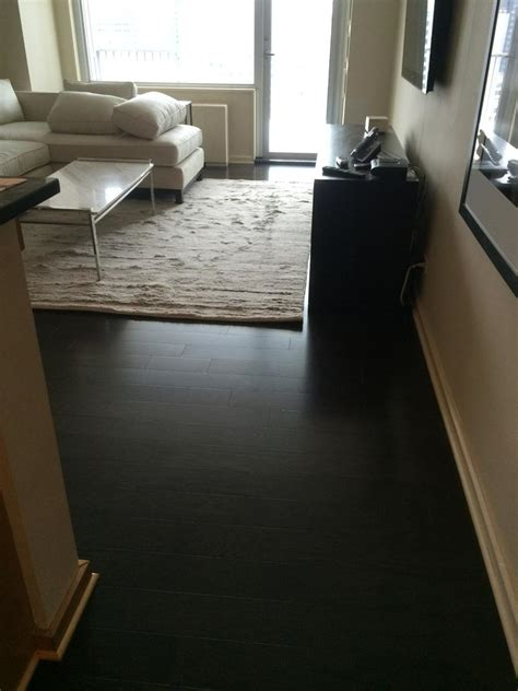 Installing Prefinished Hardwood Floors Prefinished Stained Hardwood In South End Boston Ma Central Mass Hardwood Inc