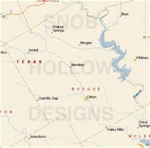 bosque county color map