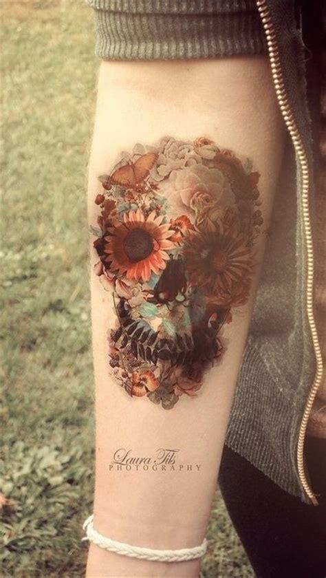 watercolor skull tattoo designs pretty designs