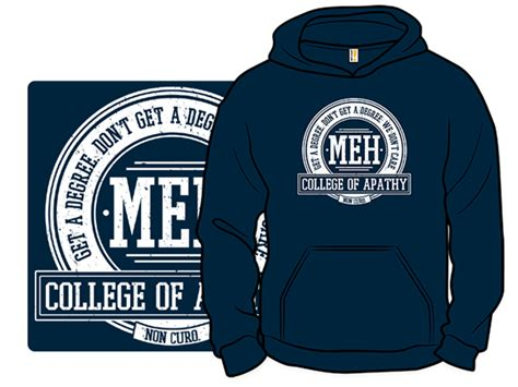 design college hoodie college of apathy pullover hoodie
