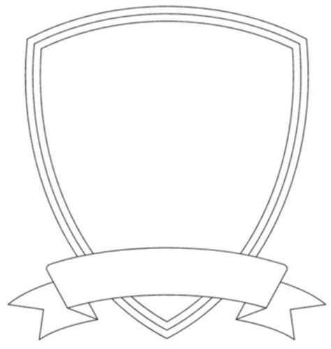 blank badge template shield template free images at clker vector clip