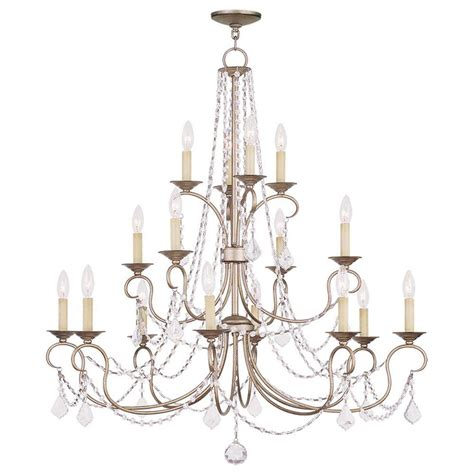 Silver Leaf Chandelier Filament Design Providence 16 Light Antique Silver Leaf Incandescent Ceiling Chandelier Cli