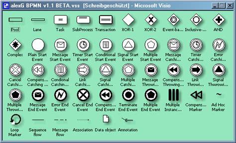 bpmn 2 0 modeler for visio visio bpmn template images