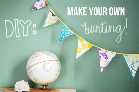 Make Your Own Paper Bunting - dirt sky diy bunting banner