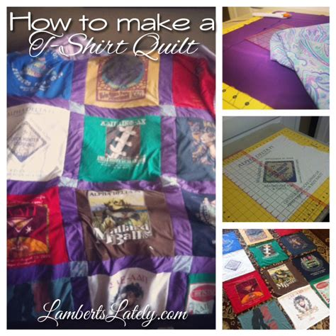 Make Quilt Out Of T Shirts by How To Make A T Shirt Quilt A Guest Post The Chirping