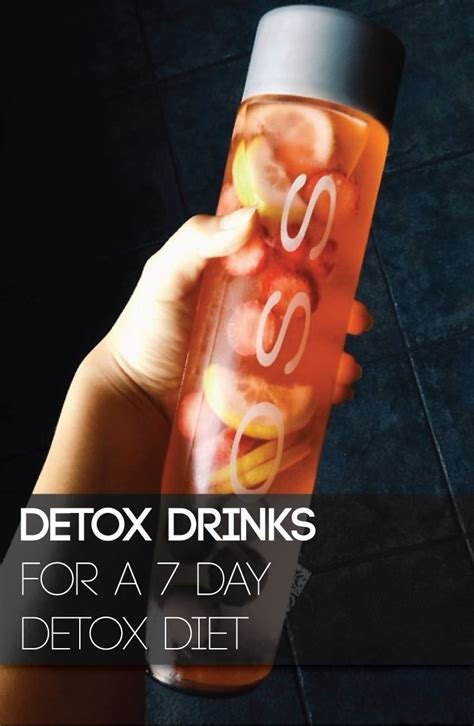 7 Day Weight Loss Detox Drink by Amazing Detox Drinks For A Week Cleanse I