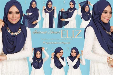 tutorial pakai pashmina cara pakai hijab shawl with hijab tutorial hijabiworld