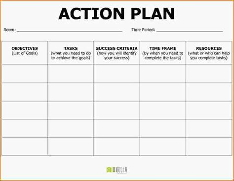 doc 787607 free action plan templates smartsheet