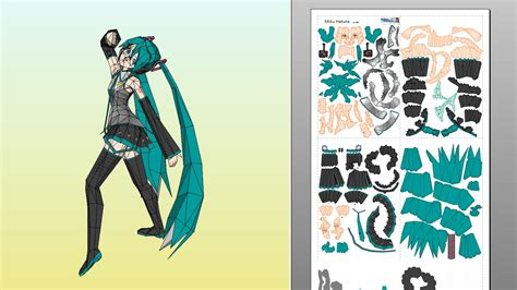 Hatsune Miku Papercraft - papercraft collection new miku model from paperworks chips jp
