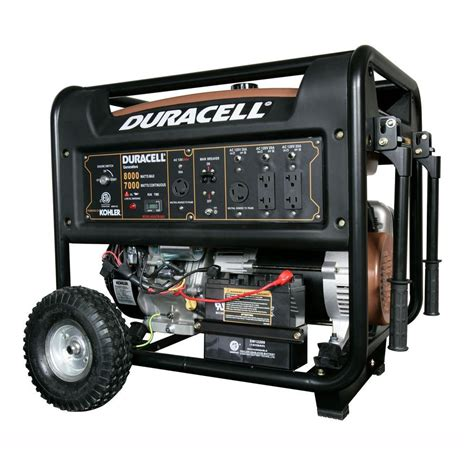 8000watt Electric Start Honda Generator by Duracell 8 000 Watt Gasoline Powered Electric Start
