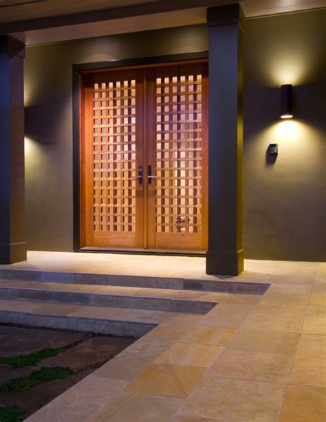 Modern Front Door Lights Topar Contemporary Entry Other Metro By Sdg Architecture Inc