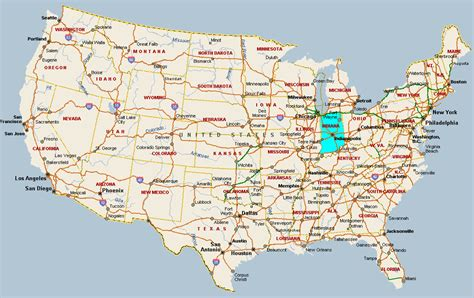 usa map states indianapolis fitzy s web site travel united states of america