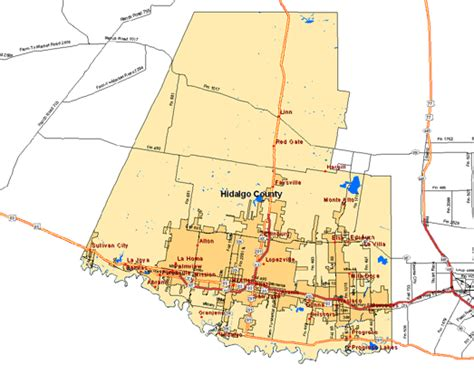 hidalgo county texas map hidalgo county map pictures to pin on pinsdaddy