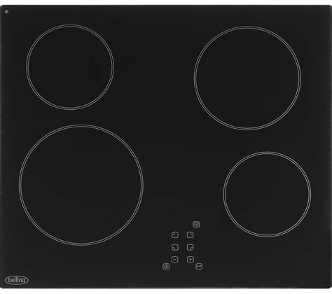 electric induction or ceramic hob buy belling ct601 electric ceramic hob black free delivery currys