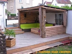 torpoon home creation terrasse en palettes et abri ext 233 rieur