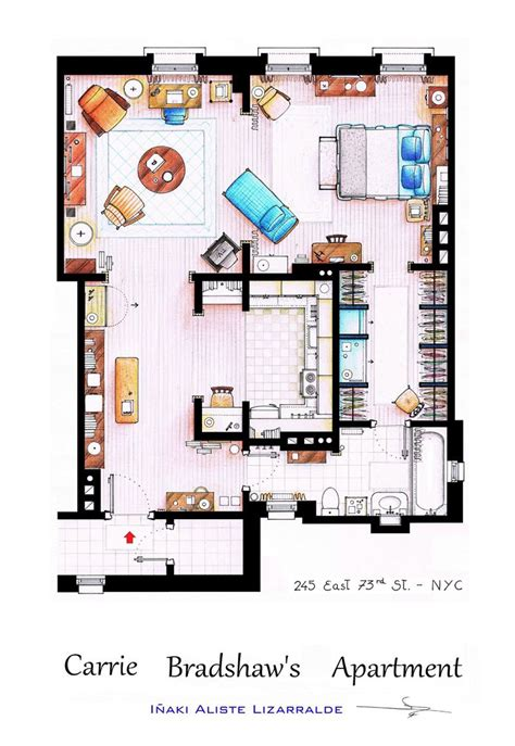 floor plan designs detailed floor plans of tv show apartments 171 twistedsifter