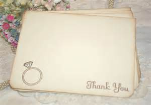 wedding thank you cards ring bridal shower thank