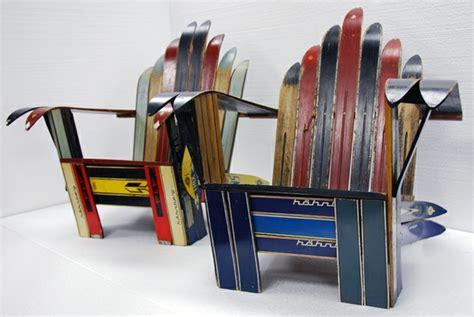 Old Wood Chairs Vintage Ski Adirondack Chairs