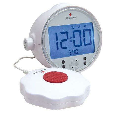 bellman symfon alarm clock pro with led lights bed shaker for deaf ebay