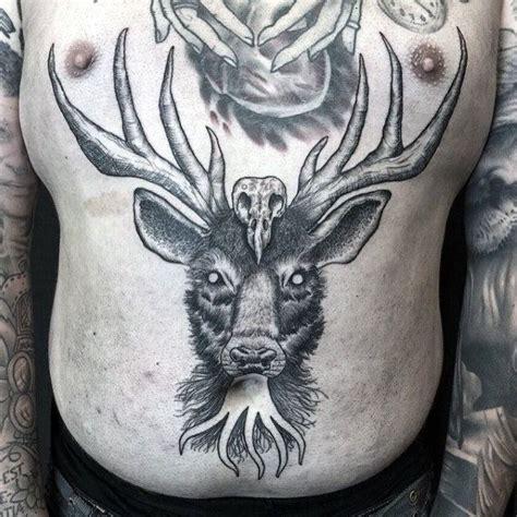 deer skull tattoos  men images  pinterest